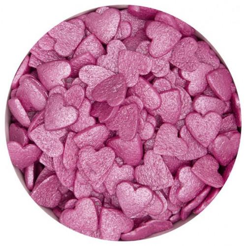 Städter Strössel Hjärtan, rosa, 50 g