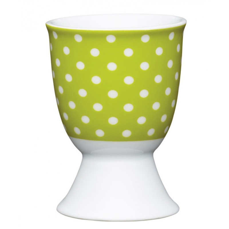 Kitchen Craft Äggkopp, grön polka dot