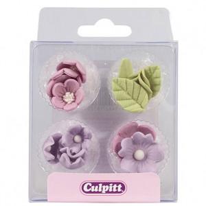 Culpitt Sockerblommor och blad, lila