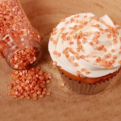 FunCakes Strössel Mini Confetti Orange, metallic
