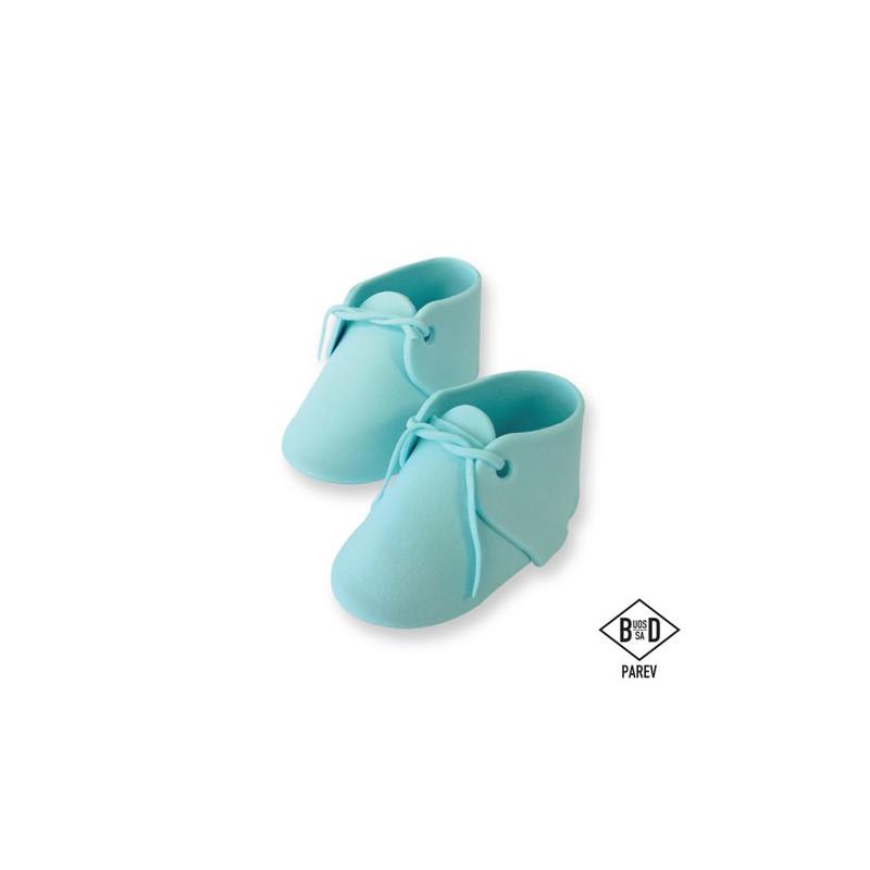 PME Tårtdekoration, Ätbara babyskor, blåa