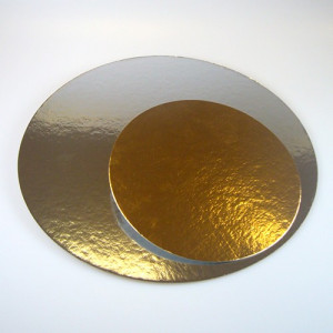 Tårtbricka guld och silver, 3-pack, 35,5 cm