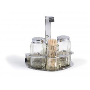 Xantia Salt och pepparset i ställ, 4 delar