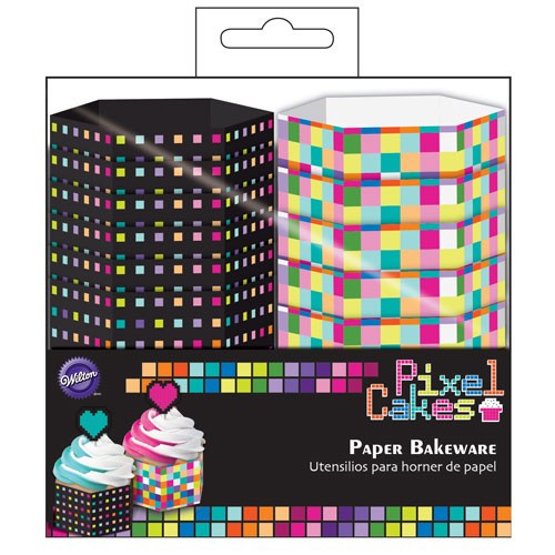 Wilton Muffinsform Pixel Cakes Hexagon