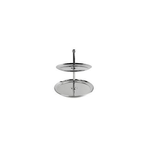Xantia Kakfat Uppläggningsfat 2 vån, Högblank rostfritt stål