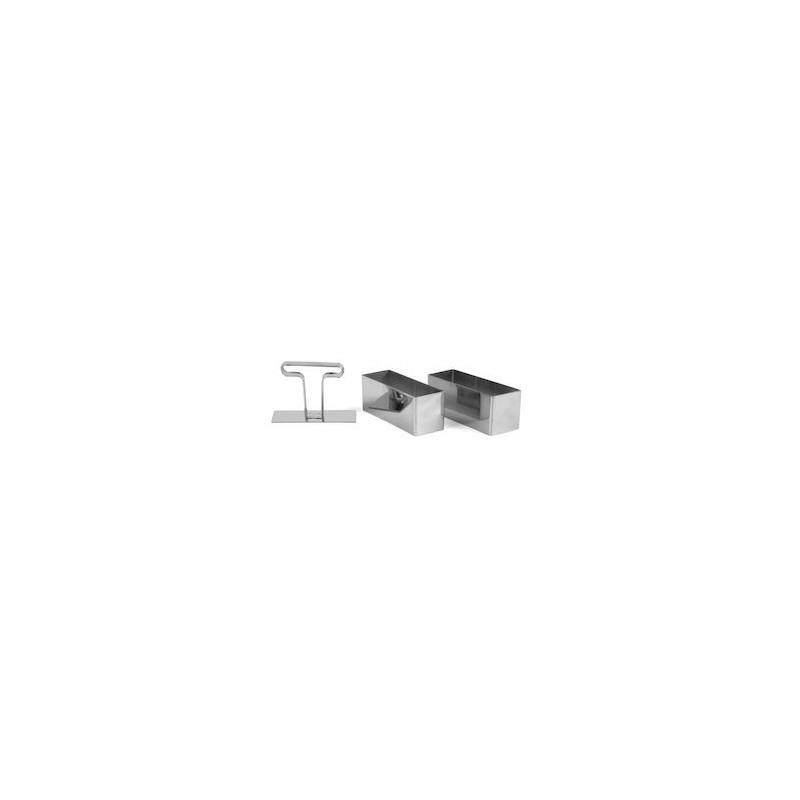 Exxent Stans rektangulär, 2 st, rostfritt stål
