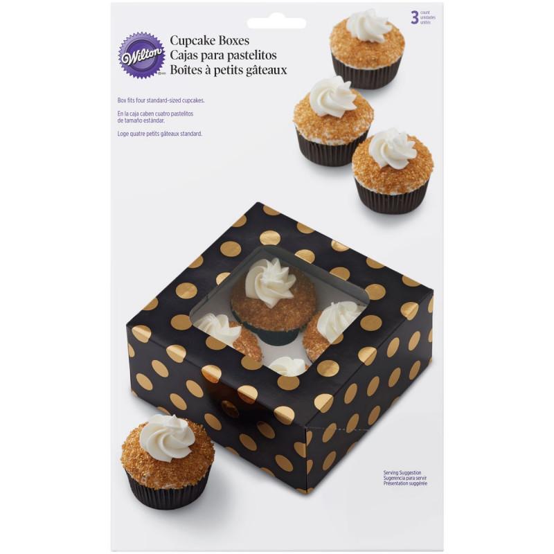 Wilton Cupcake Box, prickiga guld