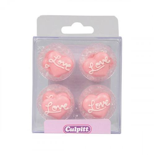Culpitt Sockerdekorationer Hjärtan, Love