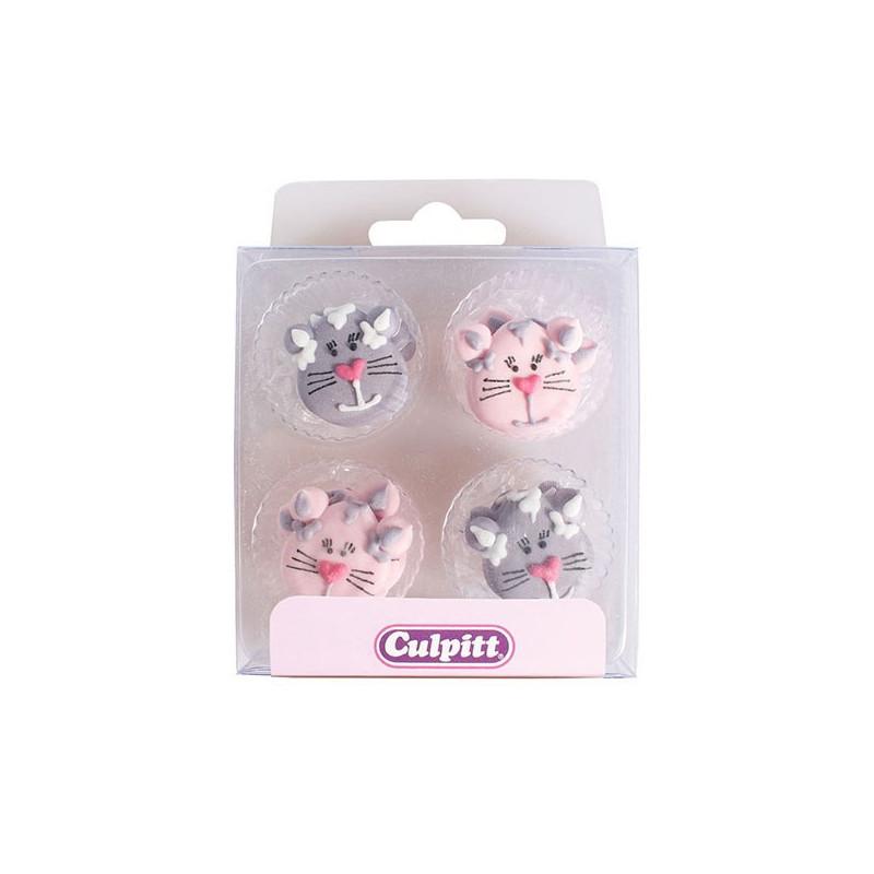 Culpitt Sockerdekorationer Katter