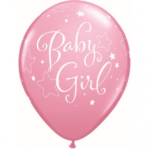 Qualatex Ballonger Baby Girl, rosa
