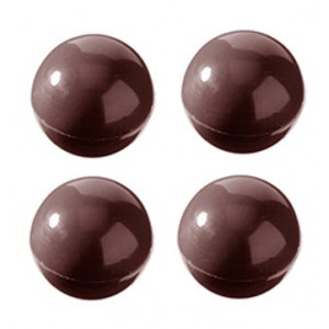 Chocolate World Pralinform Halvklot, 2,5 cm