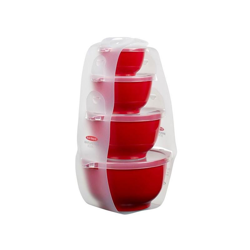 Rosti Mepal Skålset Margretheskålar Minitower, Röd