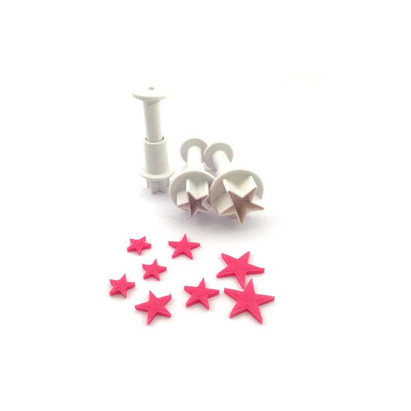 Dekofee Mini Plungers Stars set/3
