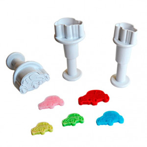 Dekofee Mini Plungers Cars set/3