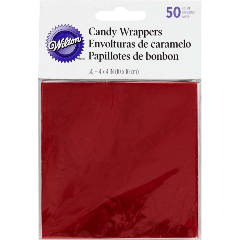 Wilton Candy Wrappers Godispapper, Röd