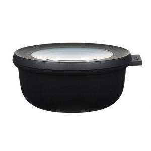 Rosti Mepal Skål med lock Cirqula, 0,35 l, svart
