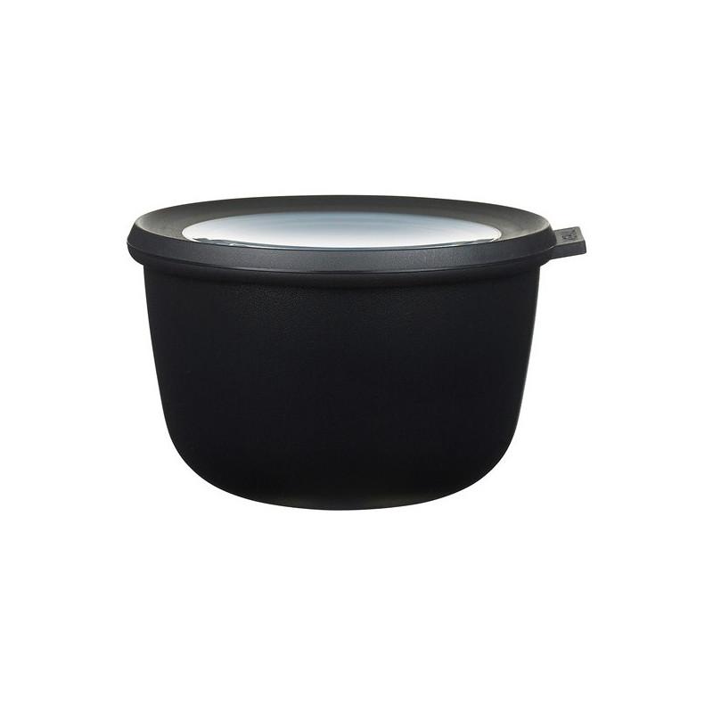 Rosti Mepal Skål med lock Cirqula, 1 l, svart