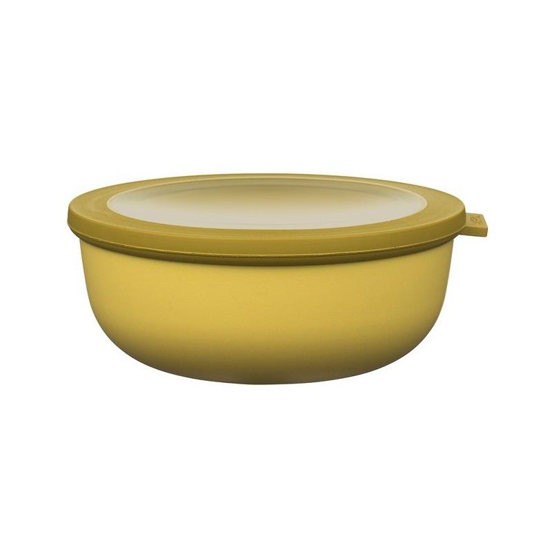 Rosti Mepal Skål med lock Cirqula, 1,25 l, senapsgul
