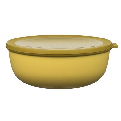 Rosti Mepal Skål med lock Cirqula, 2,25 l, senapsgul