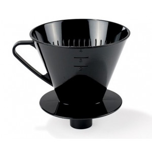 Kaffetratt med rör, svart