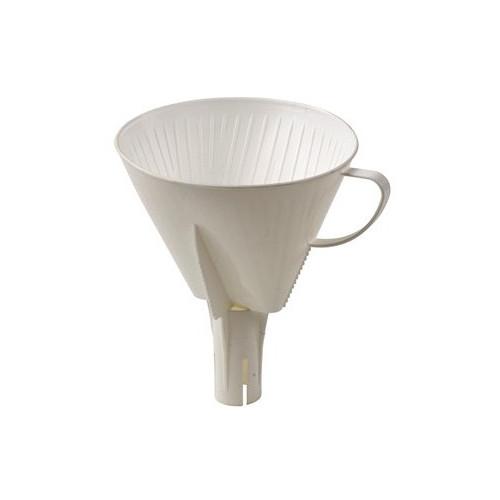Kaffetratt med rör, vit