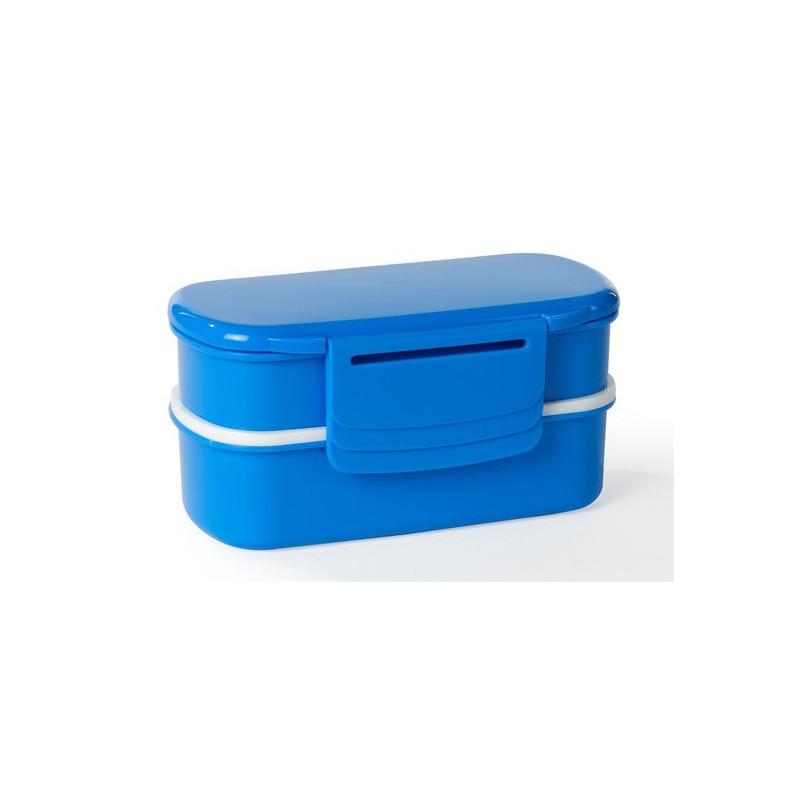 Funktion Matlåda Bento, blå med bestick