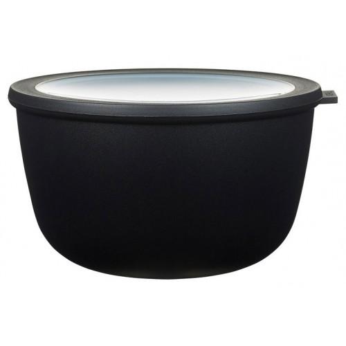 Rosti Mepal Skål med lock Cirqula, 3 L, svart