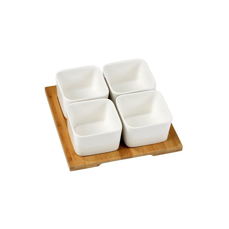 Nordic Sense Snackset fyrkant, 5 delar, vit