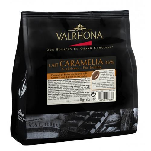 Valrhona Choklad Lait Caramelia 36%, 1 kg