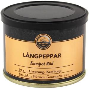Werners Gourmetservice Långpeppar Kampot röd, 70 g