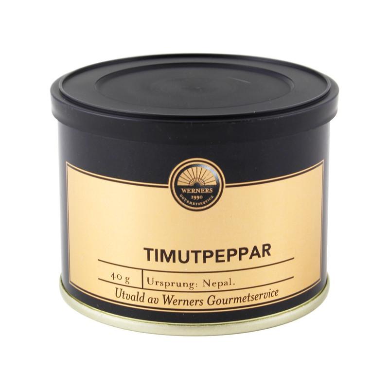 Werners Gourmetservice Timutpeppar, 40 g