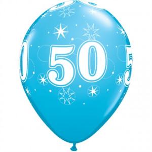 Qualatex Ballonger Födelsedag 50, blåa