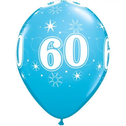 Qualatex Ballonger Födelsedag 60, blåa