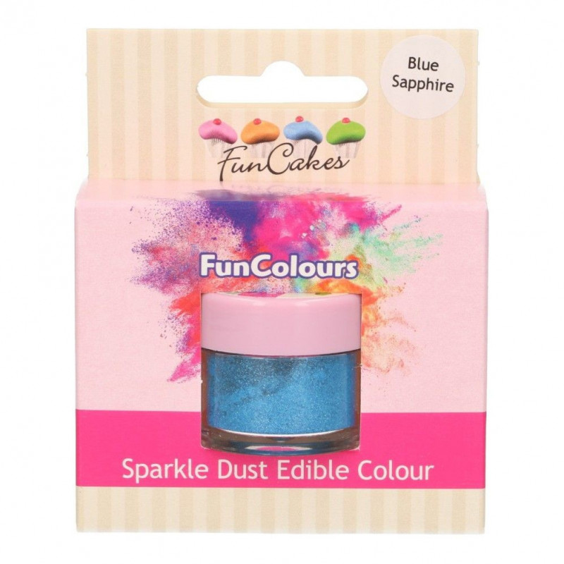 FunCakes Skimrande Pulverfärg Safirblå