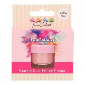 FunCakes Ätbart Glitter Rosa