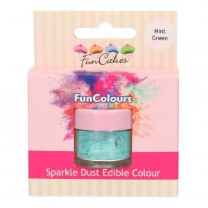 FunCakes Skimrande Pulverfärg Mintgrön