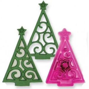 JEM Utstickare Christmas Tree Scroll, julgran