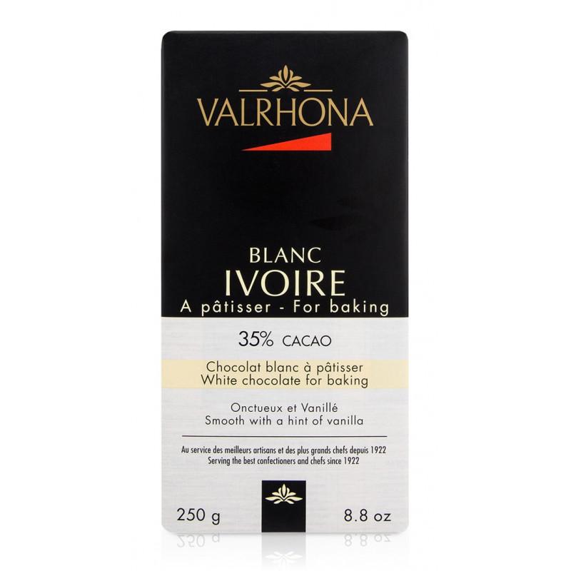 Valrhona Choklad Ivoire 35%, vit, 250 g