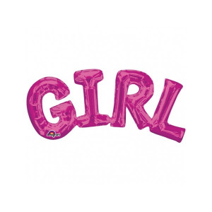 Anagram SuperShape Ballong, Girl, rosa