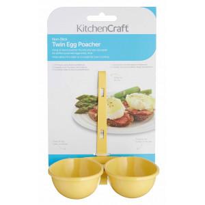 Kitchen Craft Äggpocherare, dubbel, gul