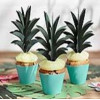 PartyDeco Cupcake Toppers 3D Ananasblad