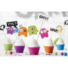 PartyDeco Cupcake Kit Monster