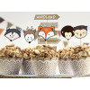PartyDeco Cupcake Kit Woodland