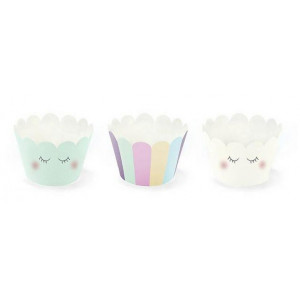 PartyDeco Cupcake Wrappers Unicorn