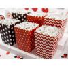 PartyDeco Popcornsbägare, röd och svart