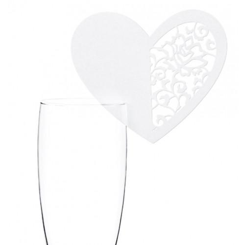 PartyDeco Dekorationer till glas, hjärta