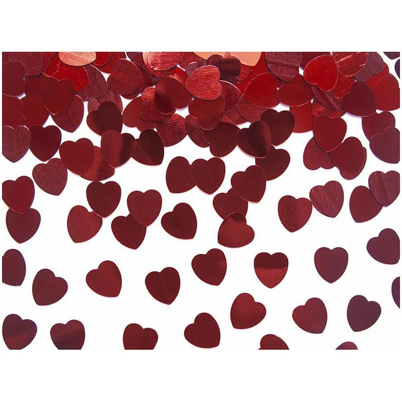 PartyDeco Konfetti Hjärtan, röda