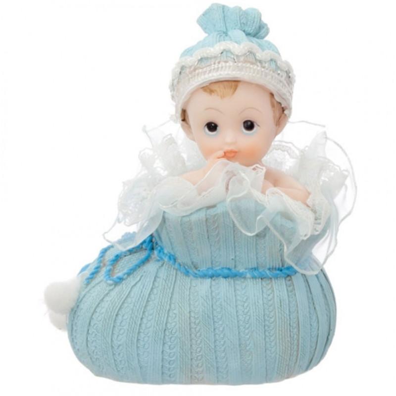 PartyDeco Tårtdekoration Baby i sko, blå