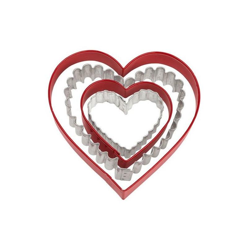 Wilton Utstickare Hjärtan, 4 st