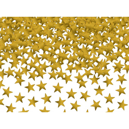 PartyDeco Konfetti Stjärnor, guld